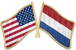 Dutch and USA Flags